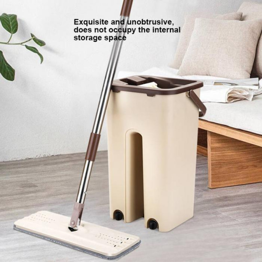 Dust Wizard Mops Cleaning Tool Kit 360° Rotating for Hardwood Tile Marble Floor