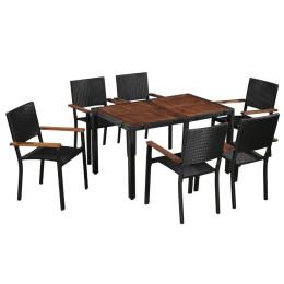Stilfuldt Udendørs Spisesæt I 7 Dele