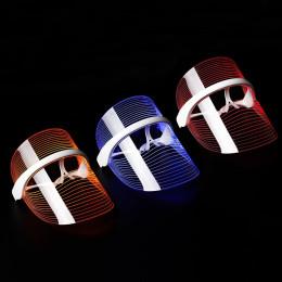 Ansigtsmaske med LED-lysterapi