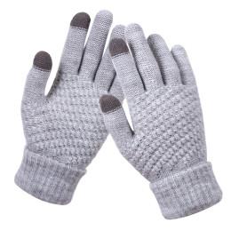 Men Women Fashion Winter Thicken Thermal Warm Knitted Gloves