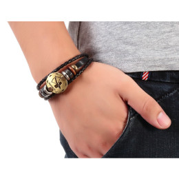 Fashion Bronze Alloy Buckles 12 Zodiac Signs Bracelet