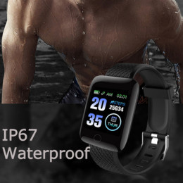 116 plus smart watch with blood pressure monitor