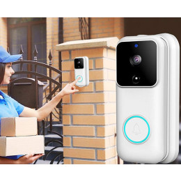 Smart doorbell  wireless WiFi1080P remote monitoring video voice two-way intercom anti-theft video doorbell
