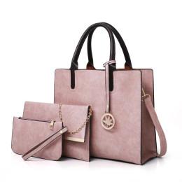 3PCS Women's Leather Bag Set Handbag Messenger Bag Shoulder Bag Wallet