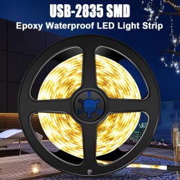 LED 2835 waterproof USB light with 5V TV background cabinet decoration soft light bar