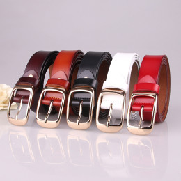 Designer Genuine Leather Belt For Women Square Pin Buckle Cowhide Belt Luxury Casual Simple Waist Fashion Jeans Belt