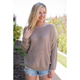 Autumn and winter new solid color round neck long-sleeved pullover sweater two-swear knitted cotton sweater
