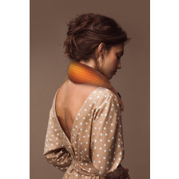 A scarf that will heat up and protect your neck! With USB