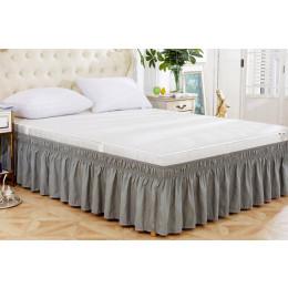 Solid color elegant bed skirt
