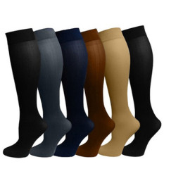 Multi-colors varicose pressure leg compression socks knee pain relief sport socks support breathable stretch football socks