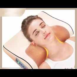 Infrared Heating Neck Shoulder Back Body Electric Massage Pillow Shiatsu Device Cervical Health Massageador Relaxation