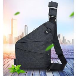 Men Travel Business Burglarproof Shoulder Bag Holster Anti Theft Security Strap Digital Storage Chest Bag