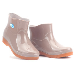 New leisure female rain boots low heel round toe shoes