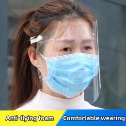 Splash-proof head-mounted dustproof transparent mask protect full face mask adjustable face mask