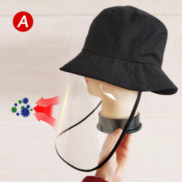 Fisherman's hat foldable unisex fishing hat with emovable transparent anti-fog dustproof face shield