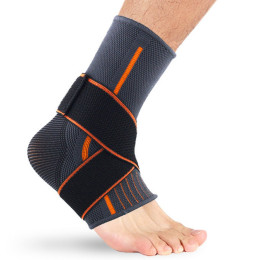 1PCS 3D pressurized ankle support basketball volleyball sports gym badminton ankle brace protector with elastic strap