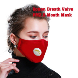 Reusable dustproof masks anti-dust face breathing valve protective cover ear-loop face mask activated carbon filters pm2.5 masks