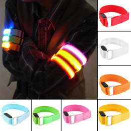 New arm warmer bicycle belt led safety armband led sports reflective belt snap strap wrap arm band