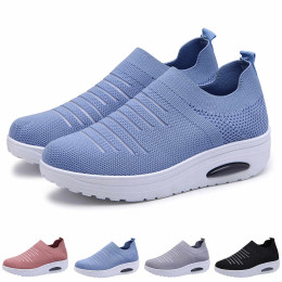 Mesh Cushioned Slip On Platform Casual Sock Shoes