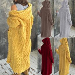 Women's Casual Hooded Long Sweater