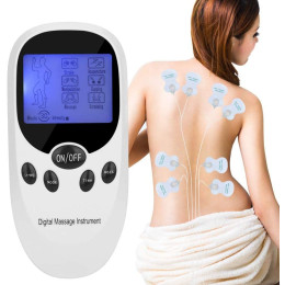 Tens EMS Combination Device Electrostimulation Device Muscle Nerve Stimulation Devices 2 Channels Stimulation Current Device Pain Relief Relaxation Back Neck Shoulders