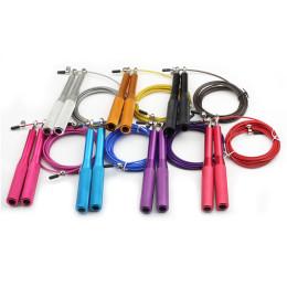 Heavy steel skipping rope for gym exerciser training equipment