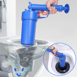 Air Pump Actuator Pressure Pipe Drain Cleaner Sinks Sewer Basin Clogged Pipeline Remover Bathroom Kitchen Toilet Cleaning Tools