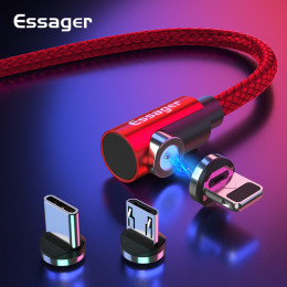 Essager Micro USB Type C Charging Cable for Samsung iPhone 7 6 Fast Charger Magnet Cable USB Cable C Wires Adapte