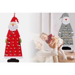 Large Christmas calendar in Santa design