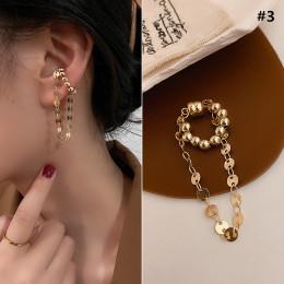 Alloy plating Dongdaemun pearl ferromagnetic ear clip geometric ear bone clip no pierced earring