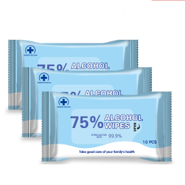2Packs Disinfection Wipes Sterilize  Non-woven Portable Athanol Bactericidal Disinfection Alcohol Cleaning Wipes