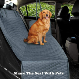 Dog car seat cover mesh waterproof dwaterproof water pet carrier car rear seat mat hammock cushion protector with zipper and pockets