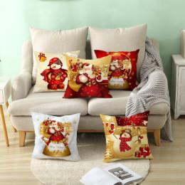 Christmas Xmas Red PillowCase Tree Decoration Santa Claus Cushion Cover Christmas Decorations for Home Decor Noel Natal 2021