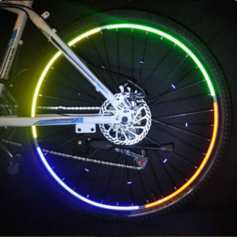 Mountain Bike Bicycle Wheel Rim Reflective Stickers