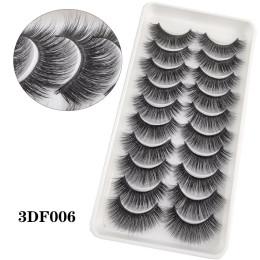 10 or 20 Pairs 3D Faux Mink Eyelashes Natural Thick Long False Eyelashes Dramatic Fake Lashes Makeup Extension Eyelashes