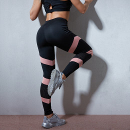 Women's Fitness Tights, Fishnet Tights and Patchwork, Women's Tights, High Waist Leggings for Women