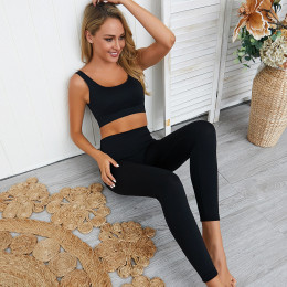 Women high waist seamless Yoga set ensemble sports sexy workout gym clothing running wear tracksuit