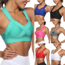 Women's Sports Bra Sexy Mesh Brathable Sports Top Push Up Women Gym Sports Underwear Women Seamless