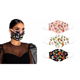 One or Three Reusable Butterfly Face Masks