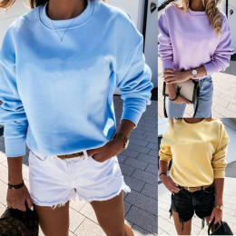 Ladies Fashion O-Neck Loose Pullover