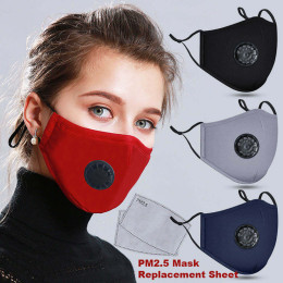 20 PCS Filter Fashion Washable Reusable Mask Anti Pollution Mouth Respirator Dust Masks Cotton Unisex Mouth Muffle