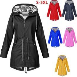 Waterproof Raincoat with Waist Pull Strings