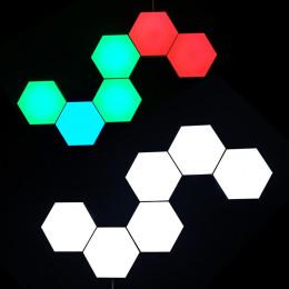 Quantum lamp led modular touch sensitive lighting Hexagonal LED Panel Light magnetic Touch or Remote. Monochrome quantum lamp wall lamp