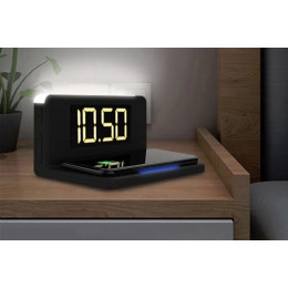 Wireless Charger & Alarm Clock - with Display screen Option!