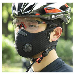 Outdoor Sport Cycling Reusable Face Mask with Valve & Filter