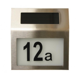 House number with lamp