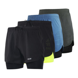 ARSUXEO Shorts Three Point Baggy (With Net) Breathable B179 Marathon Running Fitness Model