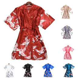 Sleeping dress, Explosive models, fairytale crane, imitation silk, single dress, bride's wedding dress, home dressing gown
