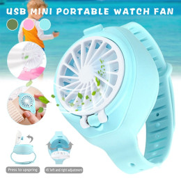 Mini watch fan portable usb charging fan 3-speed adjustable angle adjustment child adult creative gift small fan