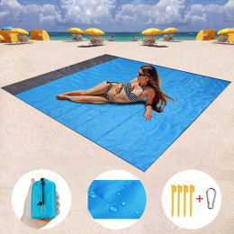 Waterproof Pocket Beach Blanket Folding Camping Mat Portable Mattress Lightweight Picnic Mat Outdoor Sand Beach Mat mat